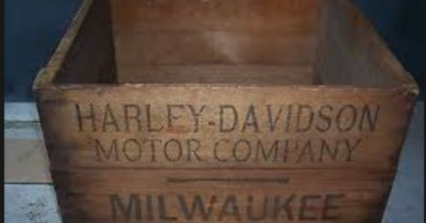 Harley Davidson Wooden Rope Box Kitchen Crate Classic Retro Gift vintage Shed