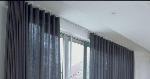 Slim Line Powder Coated Aluminum Curtain Tracks Motorized