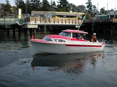 1958 skagit 20 39 ft vintage cabin cruiser boat attn for Chris craft boat club