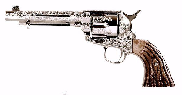 Western Revolver Gun Gun Old Western Colt 4...