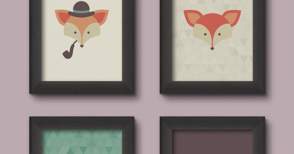 Love foxes! I can just imagine how sweet these prints would look