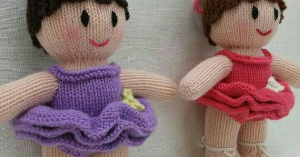 Knitting Pattern Ballerina Doll : Lovely Knitted Ballerina Doll knitted dolls by ...