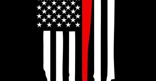 Thin Red Line Flag With Ax Decal Decals Pinterest