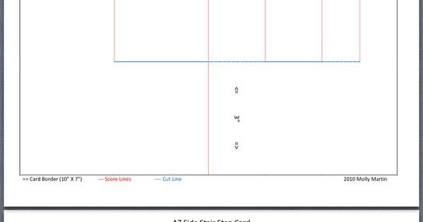5x7 side step card dimensions templates step fold