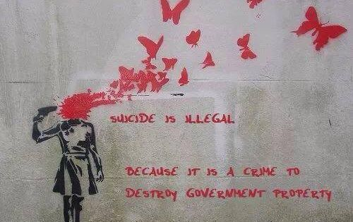 writing prompt: Suicide is illegal because it is a crime to destroy