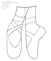 Zapatillas De Bailarina Para Colorear Buscar Con Google
