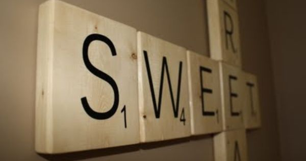 DIY Scrabble Wall Tiles - I actually did this for my inlaws