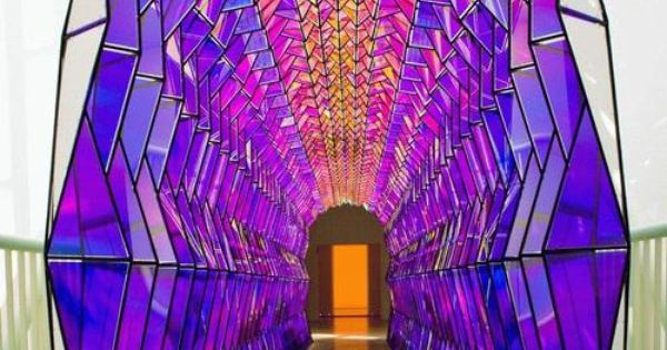 Olafur Eliasson, One way color tunnel, 2007 | Mixed Media ... Olafur Eliasson One Way Colour Tunnel