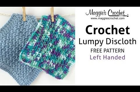 Beginner Left Handed Crochet Patterns : Lumpy Dishcloth Free Crochet Pattern - Left Handed ...