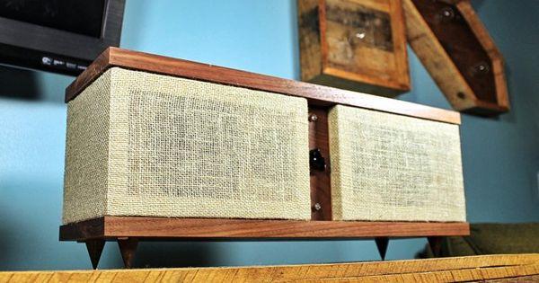 Handmade Black Walnut Hickory Wood Bookshelf Speakers Pair Vexus 1 0 Wood Bookshelves Hickory Wood Handmade Wood