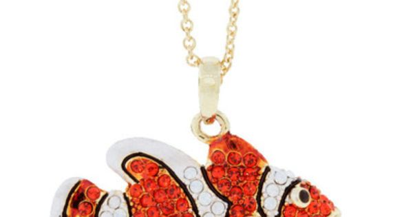 Clownfish necklace orange necklace from andrew hamilton crawford