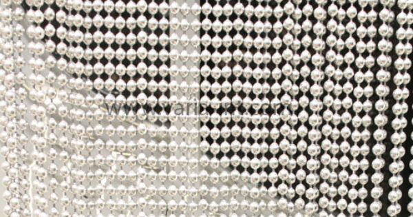 Beaded Curtain With Ball Chains Beaded Curtains Contemporary Room