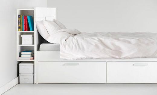 ikea kopfteile f r betten wie z b brimnes kopfteil mit ablage in wei m bel inspo. Black Bedroom Furniture Sets. Home Design Ideas