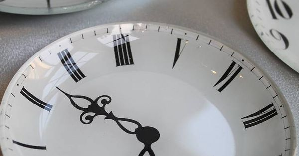 Glass Clock Jewellery Dish