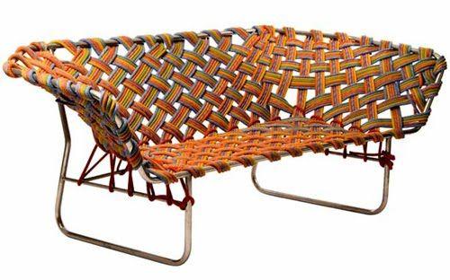 Sofa Made Of Climbing Rope Climbing Rope Diy Chair Furniture