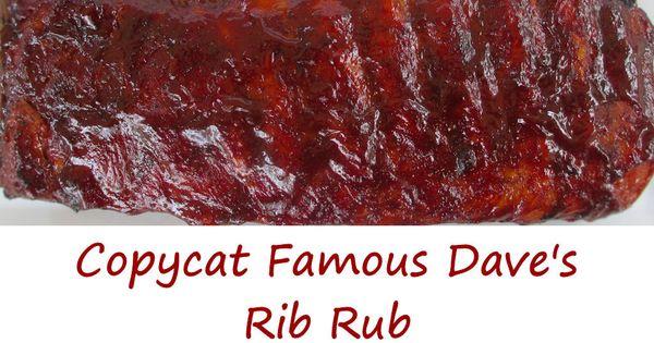 Copycat Famous Dave's Rib Rub | Recipe | Smoked Ribs, Rib Rub and Ribs