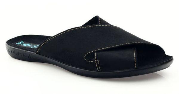 Kapcie Meskie Klapki Adanex 20310 Czarne Loafers Shoes Fashion