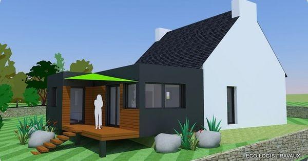 R sultat de recherche d 39 images pour agrandissement maison for Agrandissement toit plat