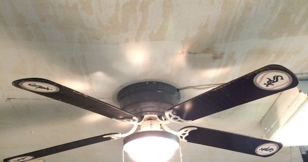 Man Cave Ceiling Fans : Chicago white sox ceiling fan for sports room or man cave