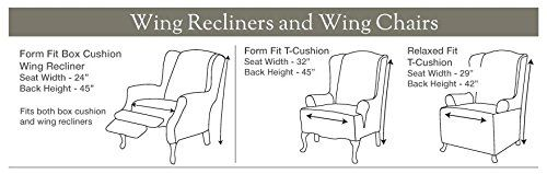 Sure Fit Stretch Jacquard Damask Wing Chair Slipcover Oyster Sf39613 In 2020 Slipcovers For Chairs Wing Chair Futon Chair