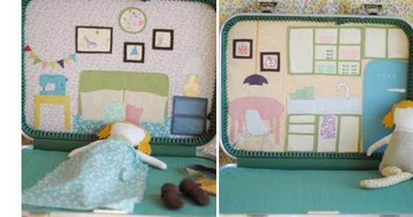 Doll Suitcase is so cute! 28 DIY Kids Christmas Gifts @Joyce Novak
