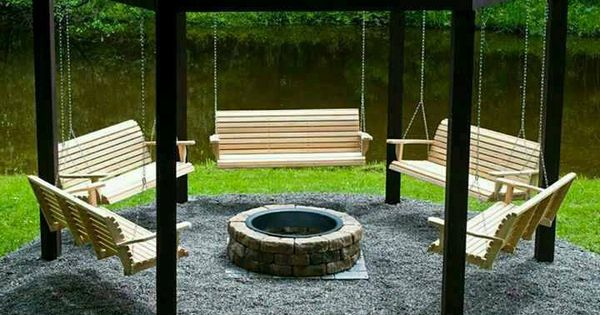 Swings around Fire Pit