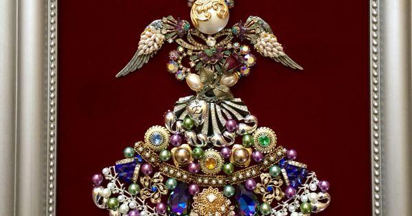 11x14 Vintage Jewelry Angel By Beth Turchi 2015 Vintage