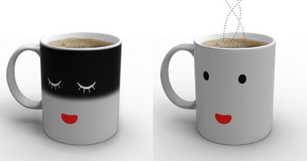 cute mug! changes from sleeping to awake as it heats up!