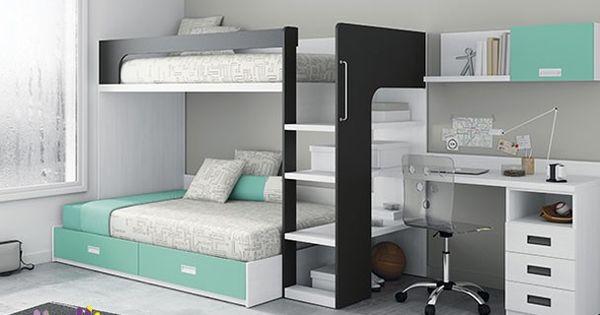 Litera serie lur con canap inferior horizontal pinteres for Dismobel muebles catalogo