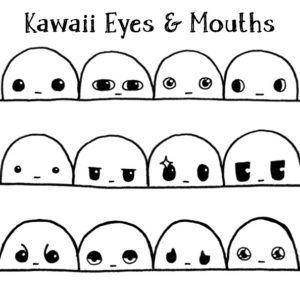 Kawaii Eyes And Mouths Eye Drawing Cartoon Eyes Drawing Kawaii Drawings