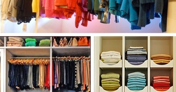 Color coordinated closets premier closets pinterest for How to color organize your closet
