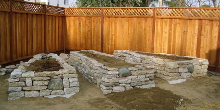 Recycling In The Landscape Reused Concrete To Create My Raised