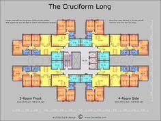 The Cruciform Floor Plan Apartment Plans Apartment Architecture Architecture Plan