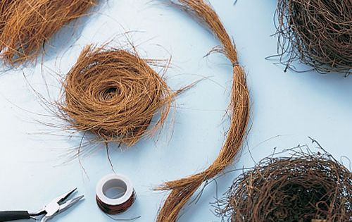 Bird nests for your art projects - how-to