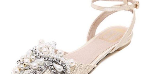 {D&H} <b>New</b> Spring Summer <b>Woman</b> Rhinestone Sandals Flats ...