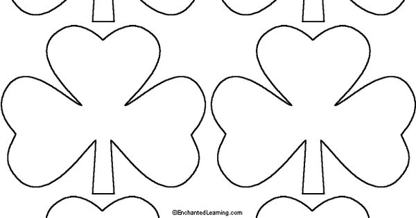 """Shamrock Template (right Click Image And """"save To"""