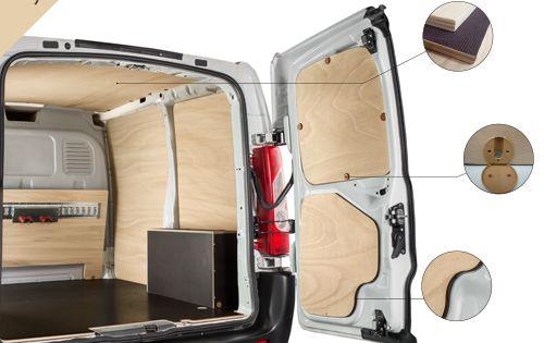 kit d 39 habillage bois pour v hicules utilitaires gamme. Black Bedroom Furniture Sets. Home Design Ideas
