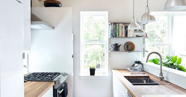 Some great ideas for small space living in this article. I love