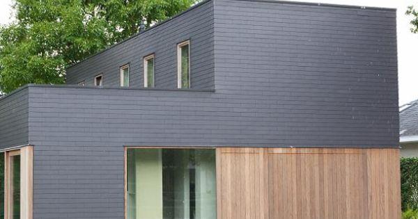 Hout leien facade pinterest hout gevelbekleding en gevel - Bungalow ontwerp hout ...