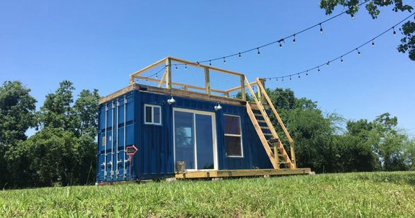 A 20 150 square feet converted shipping container home in houston texas built by background - Houston container homes ...