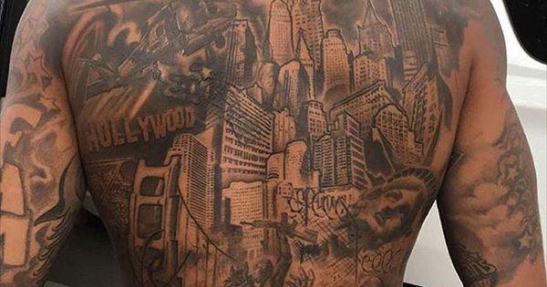 Odell close up back tats Dope | Odell Beckham Jr ...