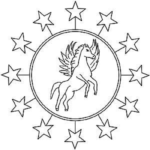 Pegasus Ala Mandala Ja Varitys Ausmalbilder Ausmalen Mandalas Kinder