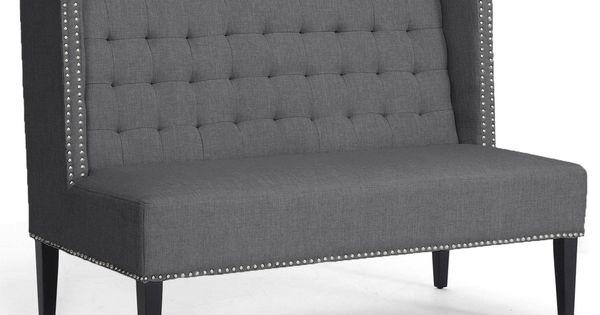 owstynn gray linen modern banquette bench by baxton studio best deals on sofas uk 2017 best deals on sofas in usa