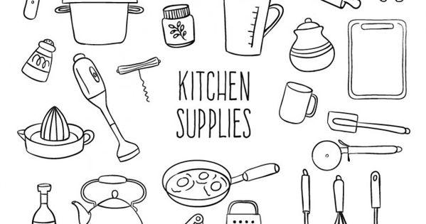 Fournitures de cuisine sketchy ressources centr es sur l for Fourniture de cuisine