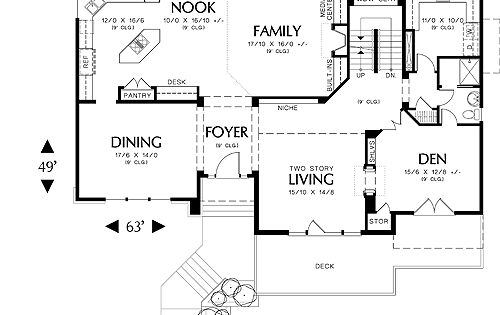 First Floor Plan Image Of Featured House Plan Bhg 5546