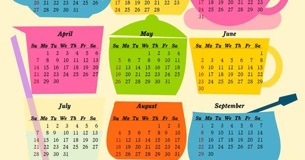 Free 2013 printable calendars