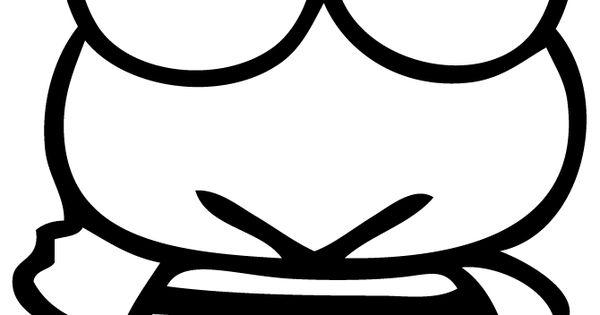 Keroppi Waving Coloring Page