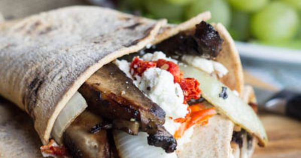 Recipe: Portobello Wraps with Goat Cheese and Sun-Dried Tomatoes — Fort Mill