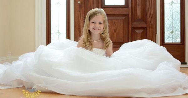 girls in moms wedding dress | Angel Gown Inspiration | Pinterest