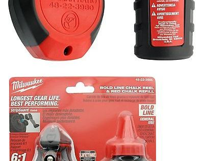 Chalk Lines And Marking Tools 178968 Milwaukee 48 22 3986 100 Ft Bold Line Chalk Reel W Strip Guard Gearbox And Buy It N Milwaukee Chalk Marking Tools
